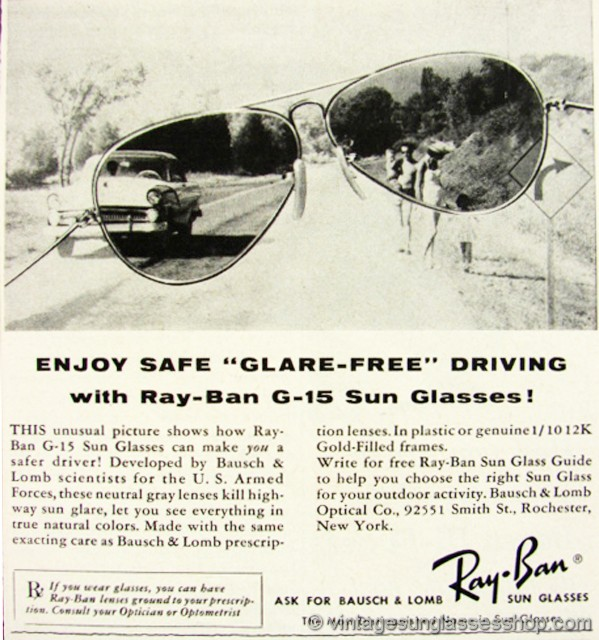 09ab79dece Click to see early B L Ray-Ban Advertising 1940s - 1990s!
