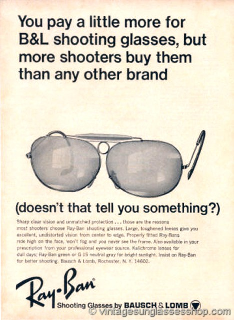 bea489e7e9 Click to see early B L Ray-Ban Advertising 1940s - 1990s!