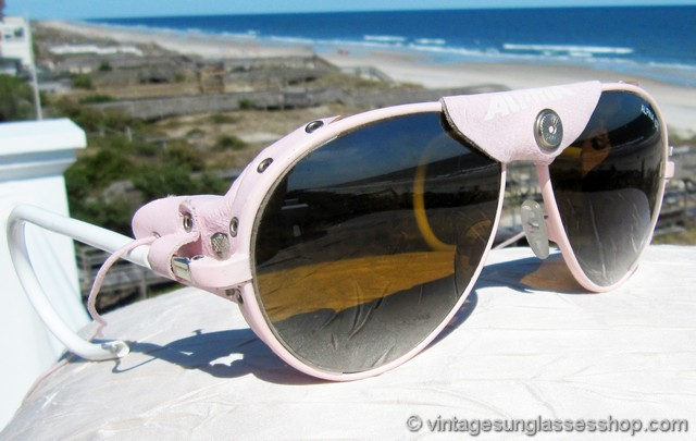 4f759a3e0d VS2942  Vintage Alpina Ice glacier glasses in pink with pink leather were  produced in only very small quantities back in the 1980s and 1990s