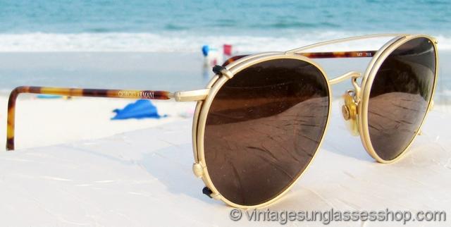 61d7ad6c9d Giorgio Armani 147 703 Tortoise Sunglasses With Matching Clip on Sunglasses