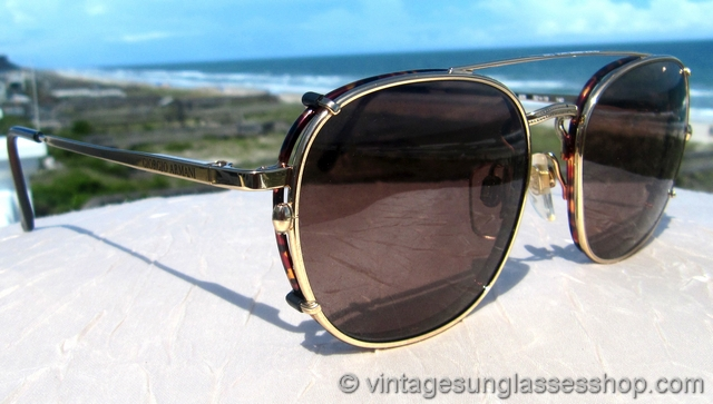 Armani Gold Frame Sunglasses : Vintage Giorgio Armani Sunglasses For Men and Women - Page 15