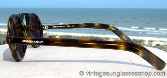 258faf822e Giorgio Armani 317 057 Tortoise Shell Gatsby Sunglasses