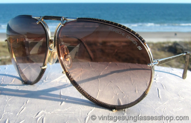 1b681ef8c2b62 VS1410  Vintage Carrera Porsche Design 5621 40 snakeskin sunglasses were  only available as a special order