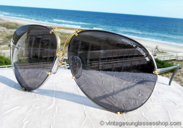 30de1284d1 VS2847  Vintage Carrera Porsche Design 5621 71 sunglasses feature the hard  to find gold and titanium silver frame along with 2 sets of interchangeable  ...