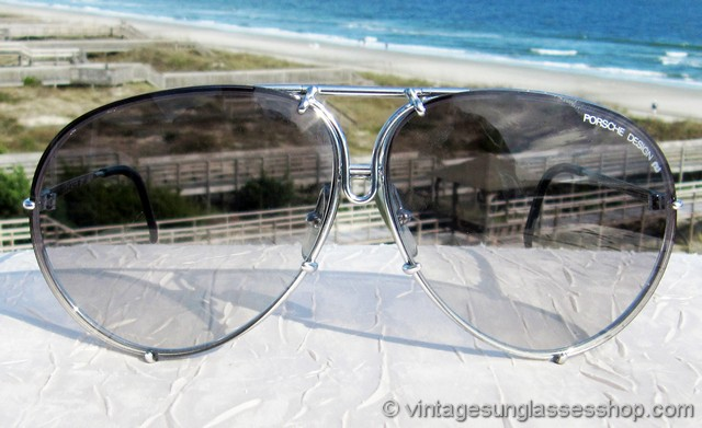 778ce96c81 VS2557  Vintage Carrera Porsche Design 5621 71 sunglasses feature the hard  to find silver titanium frame of which many fewer were produced than the ...