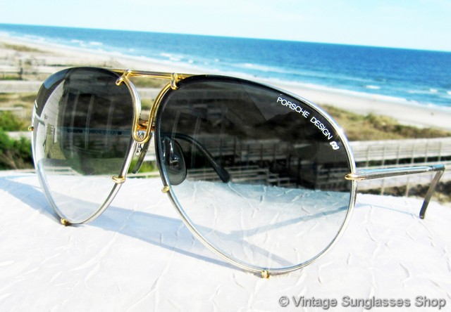 a95668cda8d9 VS2593: Vintage Carrera Porsche Design 5621 72 sunglasses feature a  titanium silver and gold plated frame, but the real stars of the show are  the rare ...