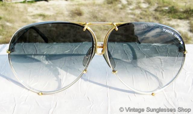 7a6345ebab VS2593  Vintage Carrera Porsche Design 5621 72 sunglasses feature a  titanium silver and gold plated frame