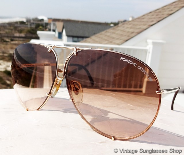 e345af1a50f0 VS137  Vintage Carrera Porsche Design 5623 40 sunglasses c 1980s feature a  gold plated frame with 2 sets of lenses - brown gradient and smoke gray  lenses in ...