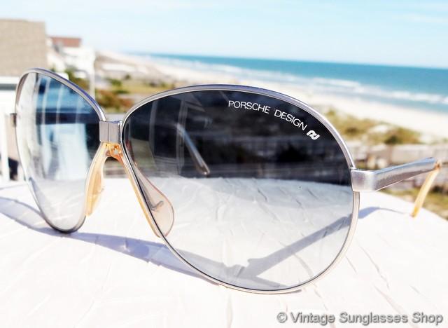 d32ce6ccd739 VS3069  Vintage Carrera Porsche Design 5626 folding sunglasses feature rare  blue gradient lenses and a matte silver folding frame