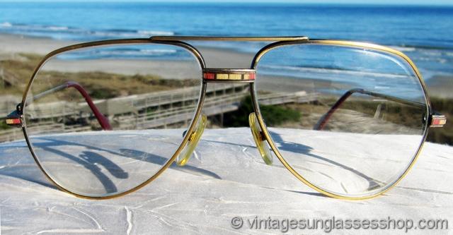 f76a79467cf1 Cartier Santos 18k Gold Aviator Glasses