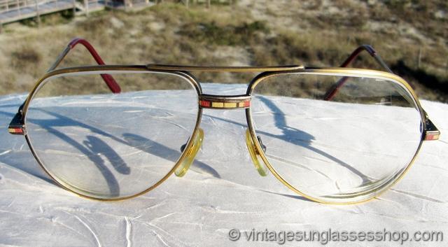 Cartier Santos 18k Gold Aviator Glasses