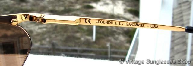 325c80eedd Gargoyles Legends and Legends II Gold Mirror Sunglasses