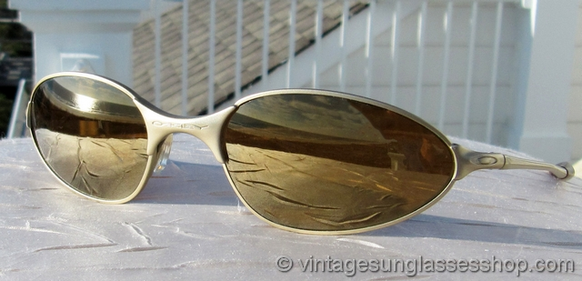 oakley gold frame sunglasses  Vintage Sunglasses For Men and Women - Page 191