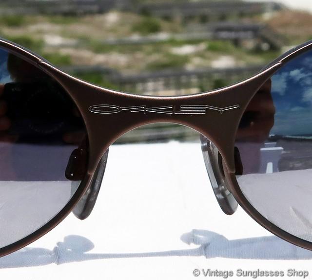 Oakley E Wire Burnt Copper Chrome Iridium Sunglasses