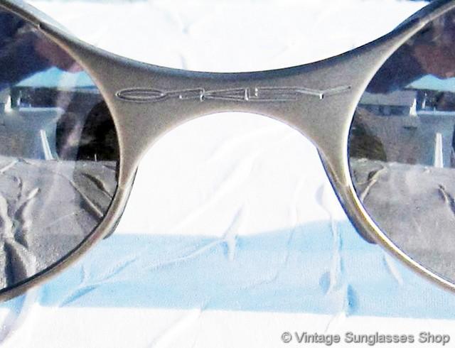 Oakley E Wire Steel Gray Chrome Iridium Sunglasses