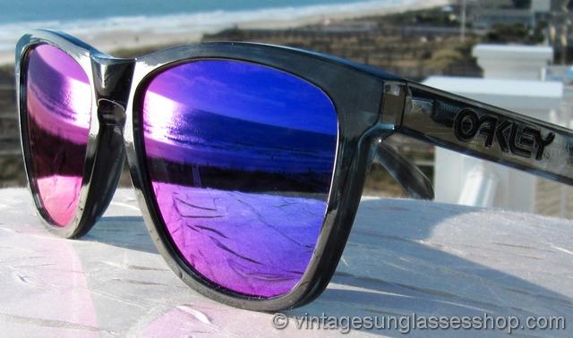 b3d1d3c38b8 Oakley Frogskins Acid Black Positive Red Iridium Sunglasses
