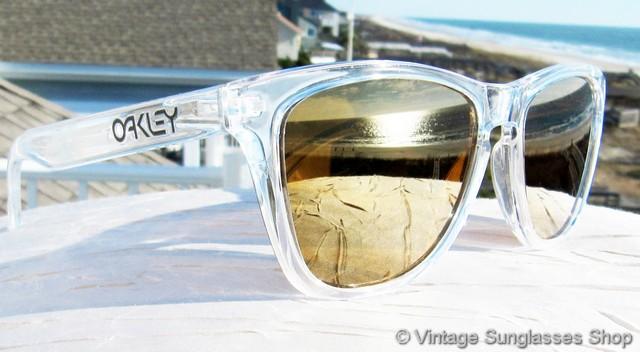 clear oakley frogskins 2ay1  vintage oakley frogskins clear