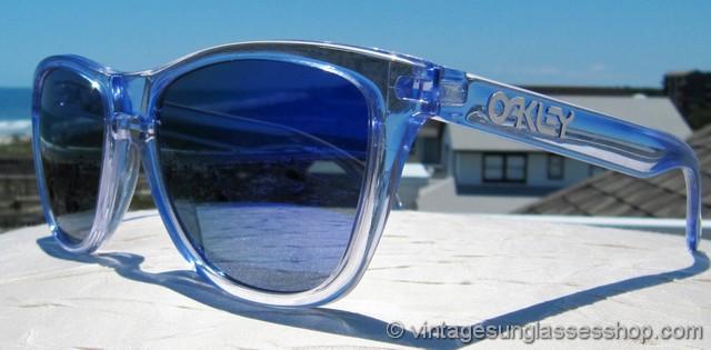 1540be7b735 Oakley Frogskins Polished Clear Violet Iridium Sunglasses