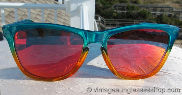 Oakley Frogskins Fire Flora Fade Ruby Iridium Sunglasses