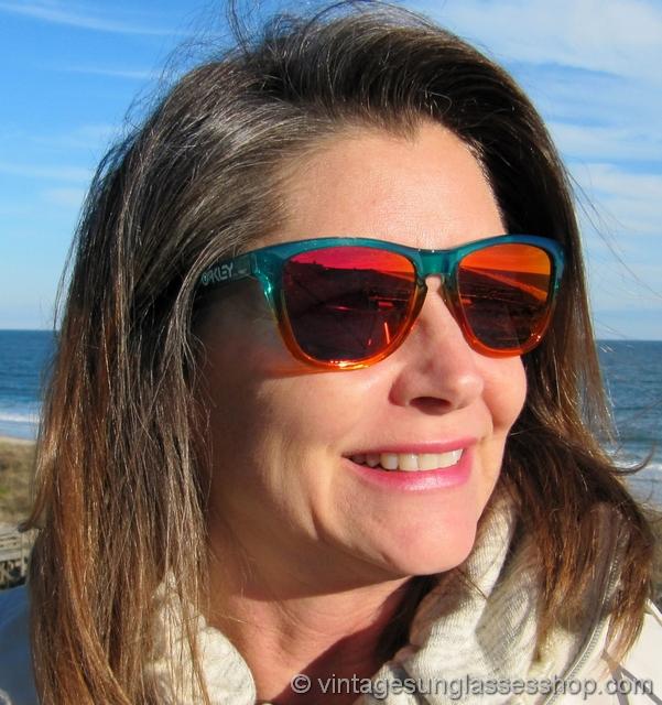 dd01a39bee Oakley Frogskins Fire Flora Fade Ruby Iridium Sunglasses