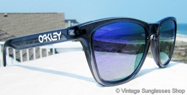 506e227606b Oakley Frogskins Crystal Black Blue Iridium Sunglasses