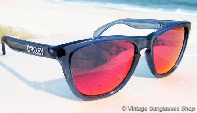 a606486f4cd Oakley Frogskins Crystal Black Positive Red Iridium Sunglasses