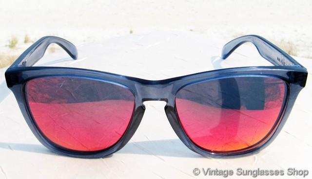 cfaad90f1858e Oakley Frogskins Crystal Black Positive Red Iridium Sunglasses