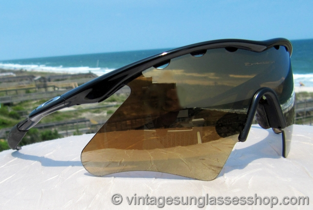 feaac06e315 Oakley M Frame Gold Iridium Sunglasses