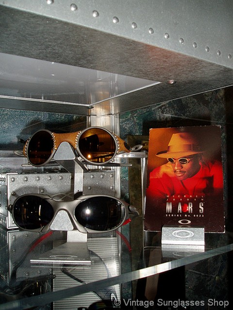 bd7d1072be ... and stores around the world featured advertising displays to market  Michael Jordan Oakley Romeo and Oakley Mars sunglasses. Tell Me More