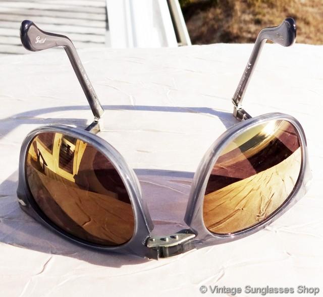 7a7c0618185f2 Persol 3028 988 Gold Mirror Folding Sunglasses