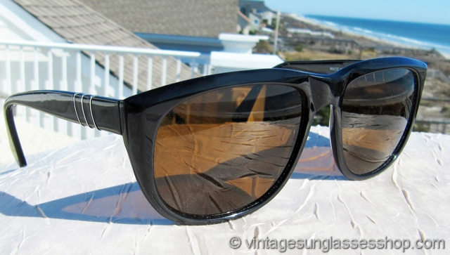 01f04b76b537e VS2612  Vintage Persol 58244 sunglasses feature a black ebony frame  produced at the famous Ratti manufactury