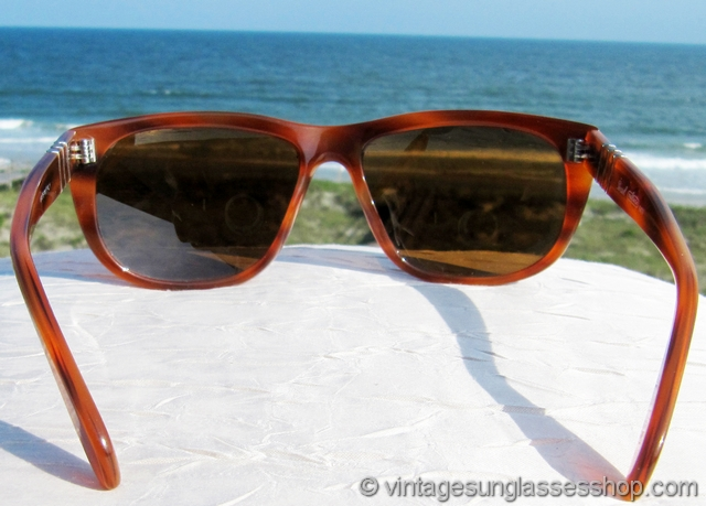 ca3daa383e0d5 Persol 58244 Orange Tortoise Shell Sunglasses