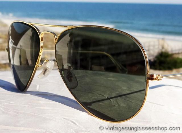 Green Aviator Sunglasses  ray ban 10k gf aviator shooter sunglasses