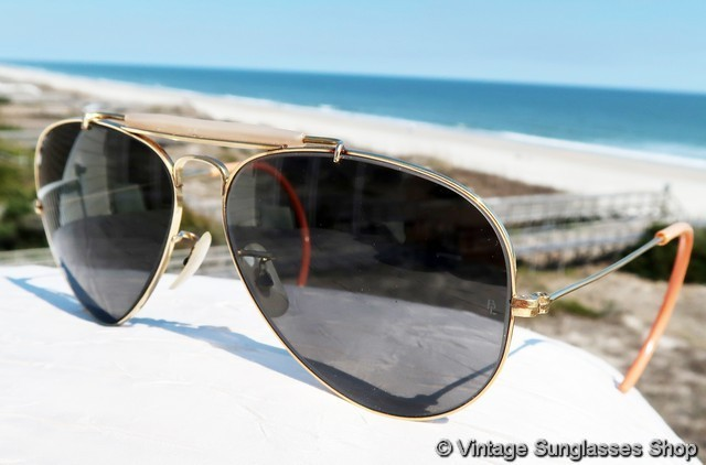 f421c33461 VS824  Vintage Ray-Ban 10k GO Changeables Outdoorsman sunglasses are the  first photochromatic sunglasses Bausch   Lomb produced c 1960s