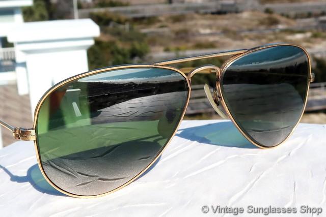 566bb5392b1 Ray-Ban 12k GF 52mm Double Gradient Mirror Shooter Sunglasses