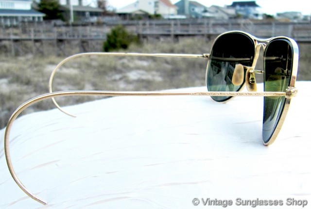 97a2c4c8bac VS622  Very rare vintage B L Bausch   Lomb Ray-Ban 12k gold filled 52mm  double gradient mirror shooters were only made in a very small production  run c ...