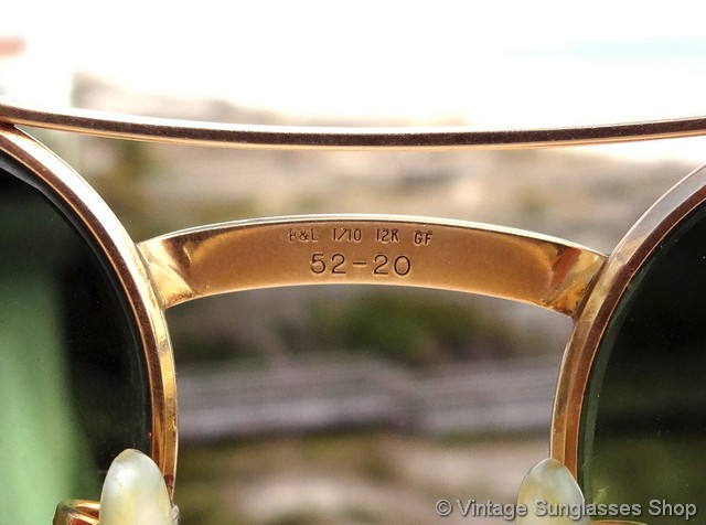 d2ff6418804 Ray-Ban 12k GF Double Gradient Mirror Signet Sunglasses