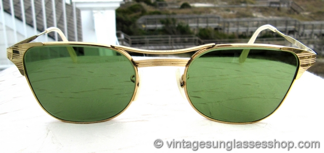 gold rimmed ray bans mw66  VS961: Vintage Ray-Ban 12k GF Signet sunglasses feature the top of the line  B&L Ray-Ban 12k gold filled Signet frame and early Bausch & Lomb RB-3  lenses for