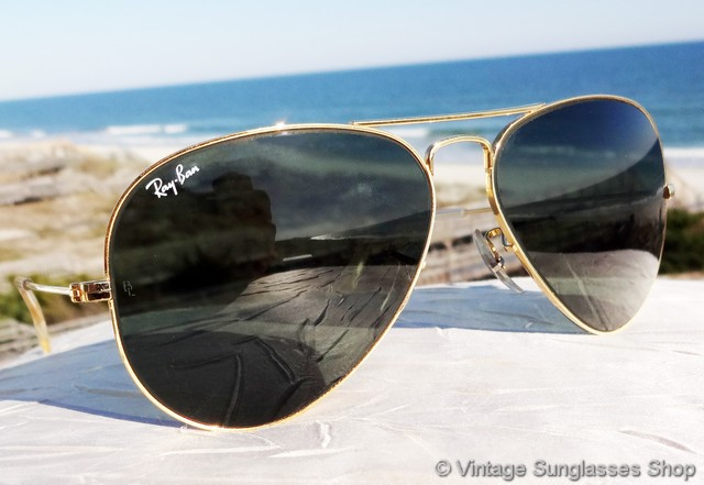 ray ban sunglasses aviator vintage  vs009: vintage ray ban 58mm aviator sunglasses are the iconic bausch & lomb aviators that have been a top choice of both the general public and celebrities