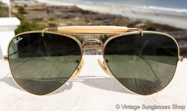 Aviator Sunglasses Without Top  vintage ray ban sunglasses for men and women page 6