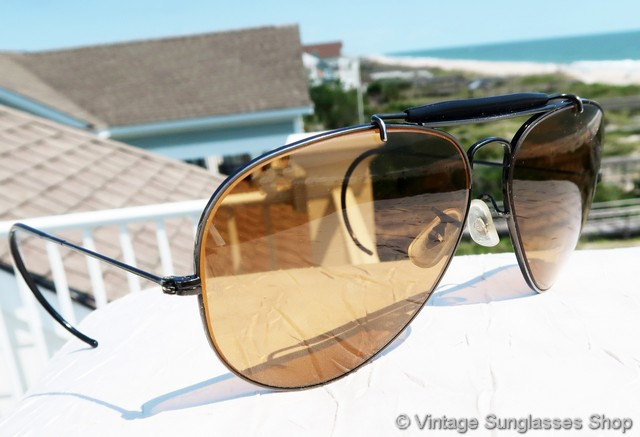 2444f9102048 Vintage Ray Ban Shooter Sunglasses With Cable Temples « Heritage Malta