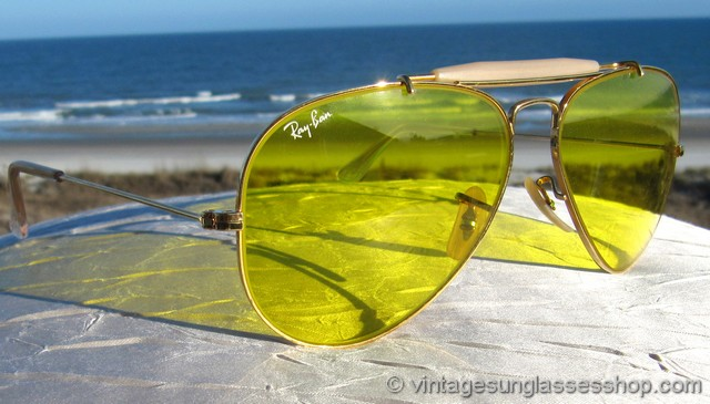 ray ban yellow lens aviator  photo 3