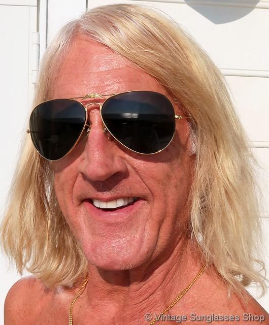 Ray Ban Aopa 62mm Aviator Sunglasses