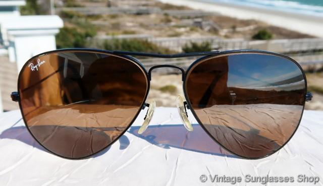 94cf7b9aab Ray-Ban W0232 B-15 Top Gradient Mirror Black Aviator Sunglasses