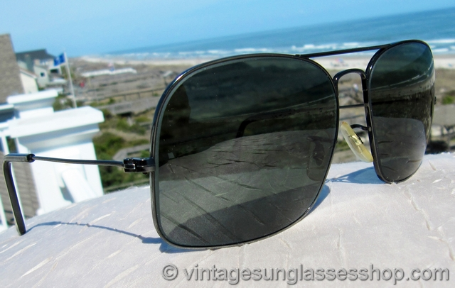 b4fd74d607 VS2013  Vintage Ray-Ban Military Caravan sunglasses feature the hard to  find black chrome variation of the iconic gold plated version of these  vintage ...