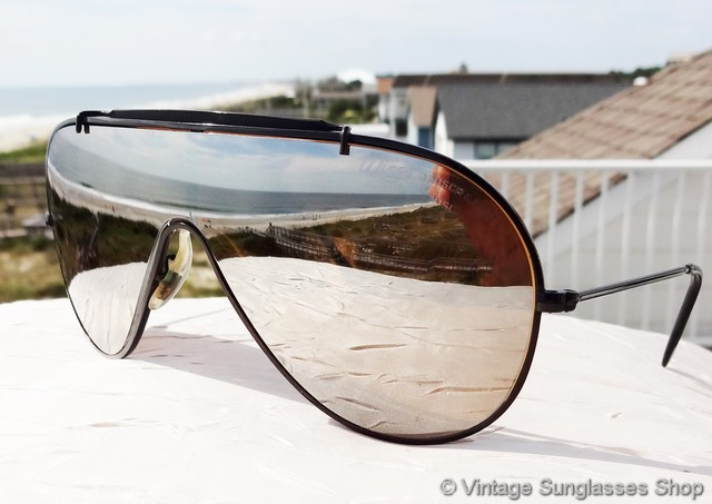 ray ban sunglasses styles 4y6w  VS1328: Vintage Bausch & Lomb Wings black general sunglasses are a rare  variation of the classic Ray-Ban Wings sunglasses style, with black chrome  frame and