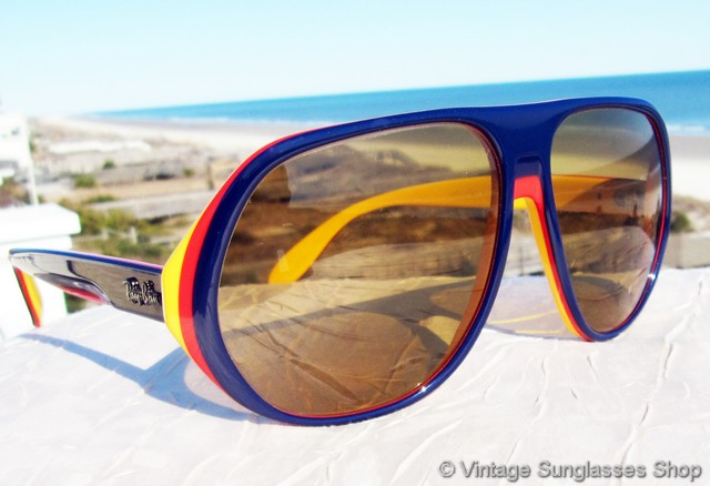 6edc8176a3 VS1184  Vintage Ray-Ban Blazer sunglasses feature the rare multicolor red