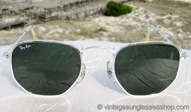 Ray Ban Classic Metals Arista Silver And Gold Hexagonal