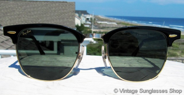 vintage ray bans sunglasses  vs006: vintage ray ban w0365 clubmaster sunglasses are an icon of 20th century sunglasses design not to mention super cool, and you've probably seen jack