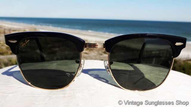 186854fa513fac VS168  Vintage Ray-Ban W1115 Clubmaster sunglasses ooze cool
